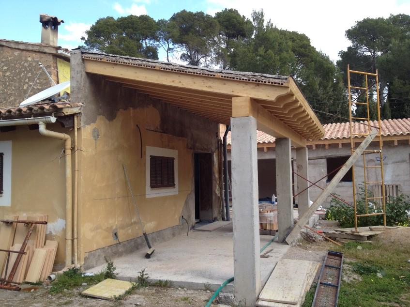 Avanzando en la realizaci n del porche ac reformas for Imagenes de porches de casas