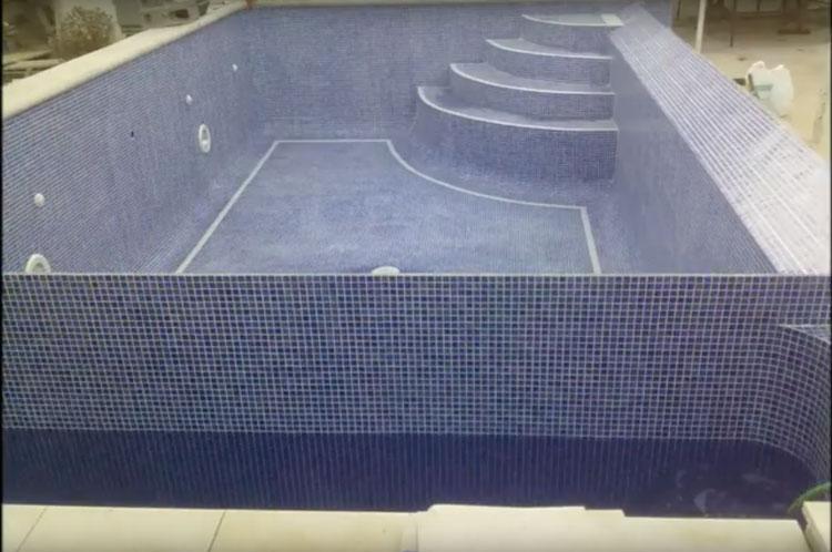 Fin de la construcción de una piscina