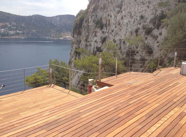 Tarima de madera para exterior IPE